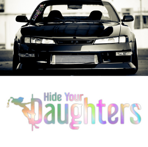 Hide Your Daughters Oilslick Neochrome Windshield Decal Sticker