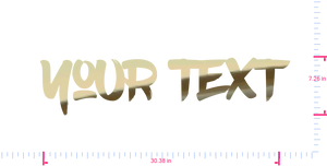 Text Your Text Vinyl custom lettering decall/7.26 x 30.38 in/ Gold Chrome /