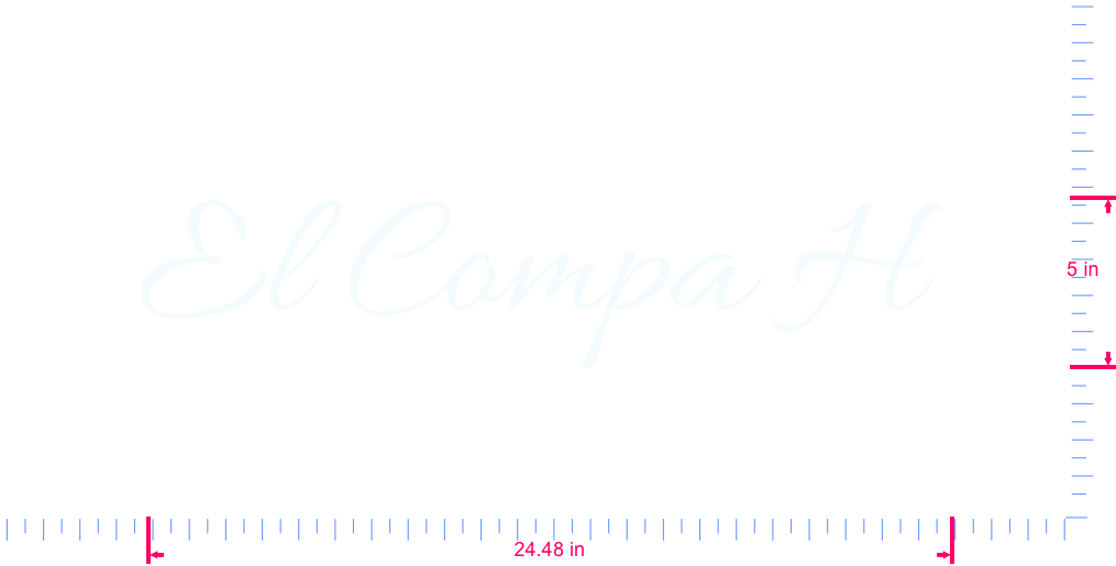 Text El Compa H  Vinyl custom lettering decal/5 x 24.48 in/ White /
