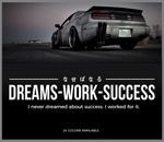 Dreams work success sticker decal 2 - stickyart - 1