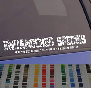 Endangered Species JDM Sticker decal