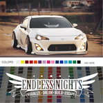 Endless Nights Japanese Decal Sticker