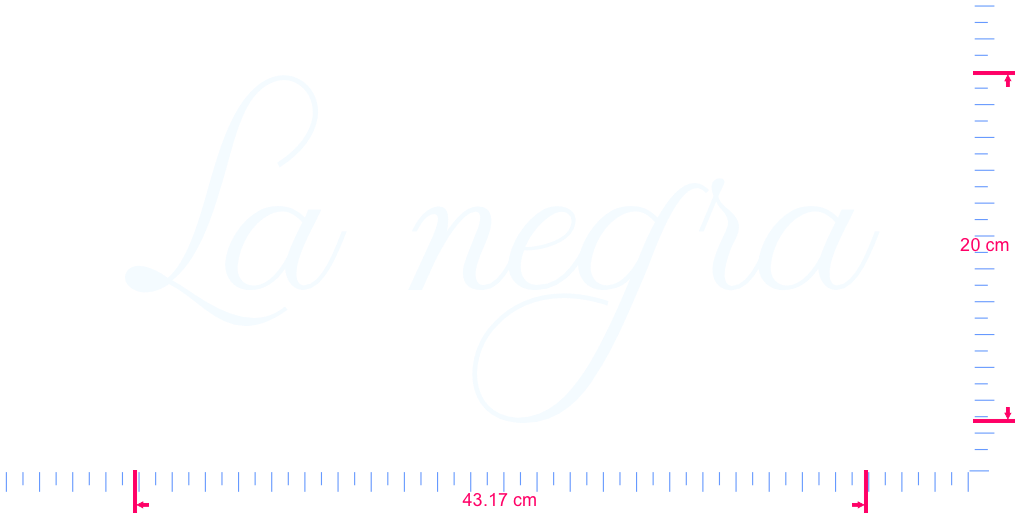 Text La negra Vinyl custom lettering decal/20 x 43.17 cm/ White /