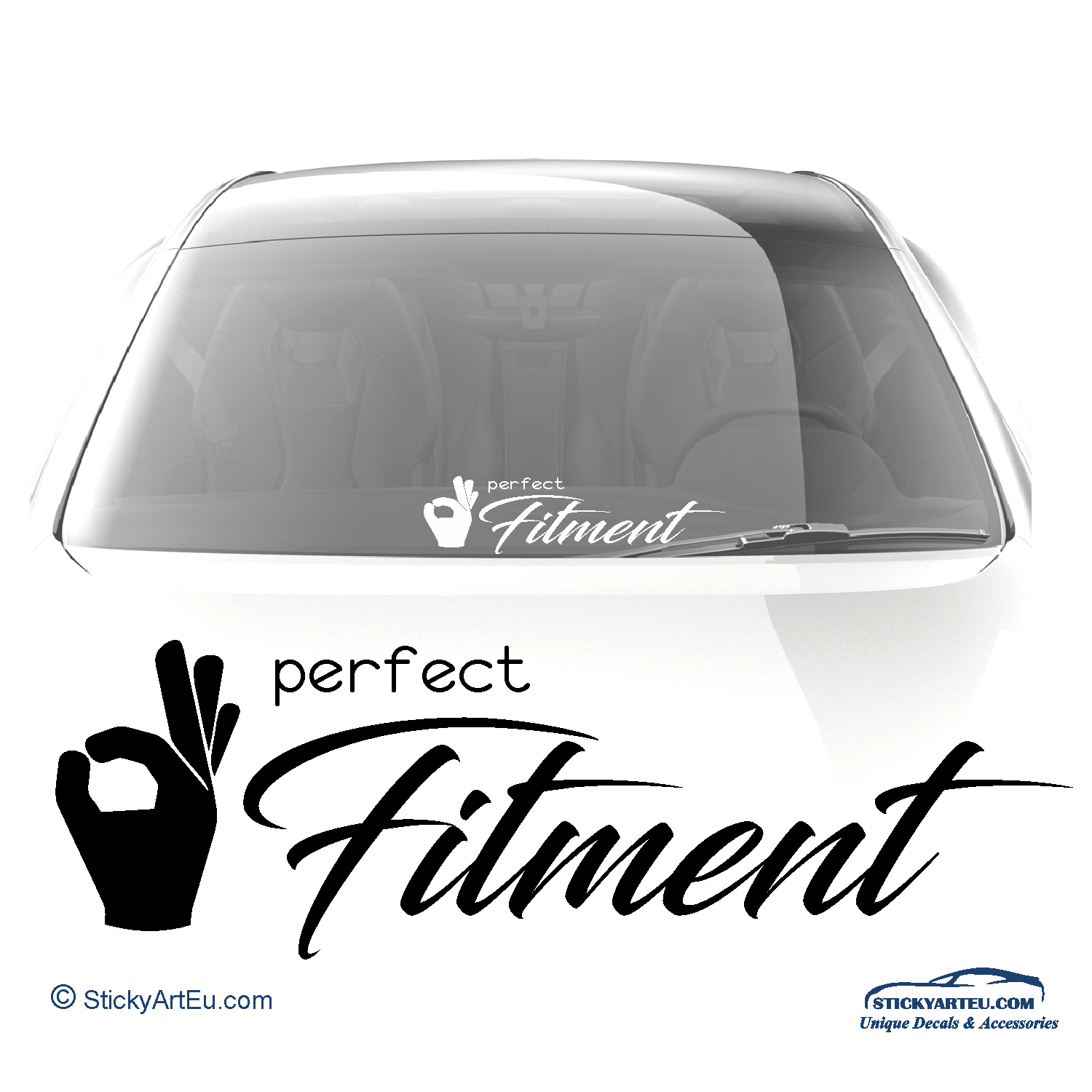 Perfect Fitment vinyl decal - stickyarteu