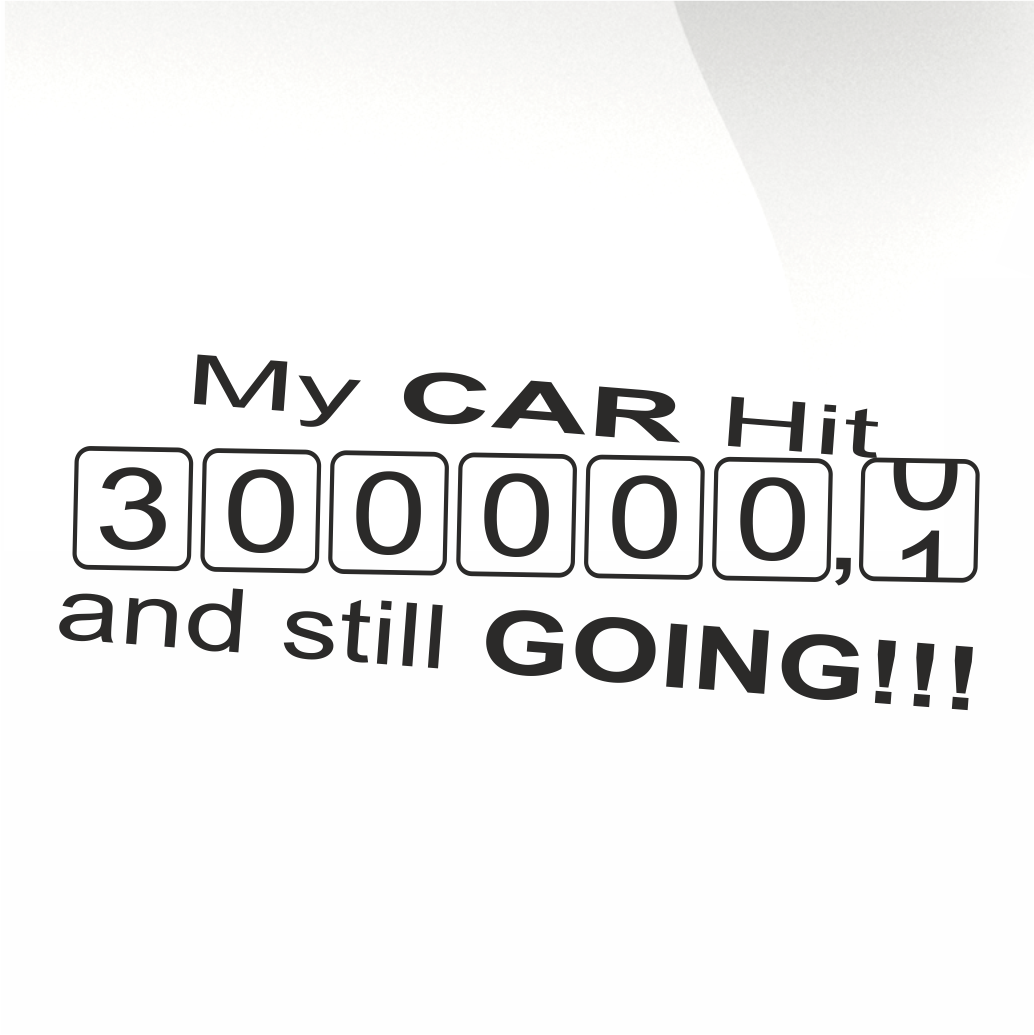 My car hit 300000 decal - stickyarteu
