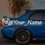 Instagram custom name decals
