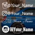 Instagram name decal