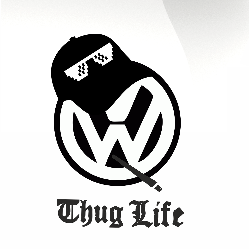 VW thug life sticker - stickyarteu