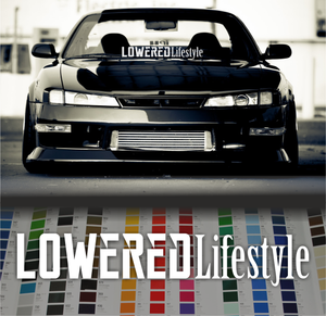 Lowered Lifestyle sticker banner decal