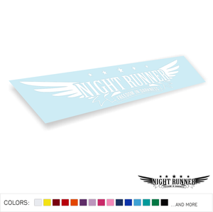 Night Runner Decal Sticker Low JDM Drift Dope