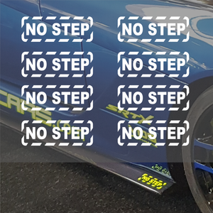 Pack of 8 No Step logo vinyl decal sticker