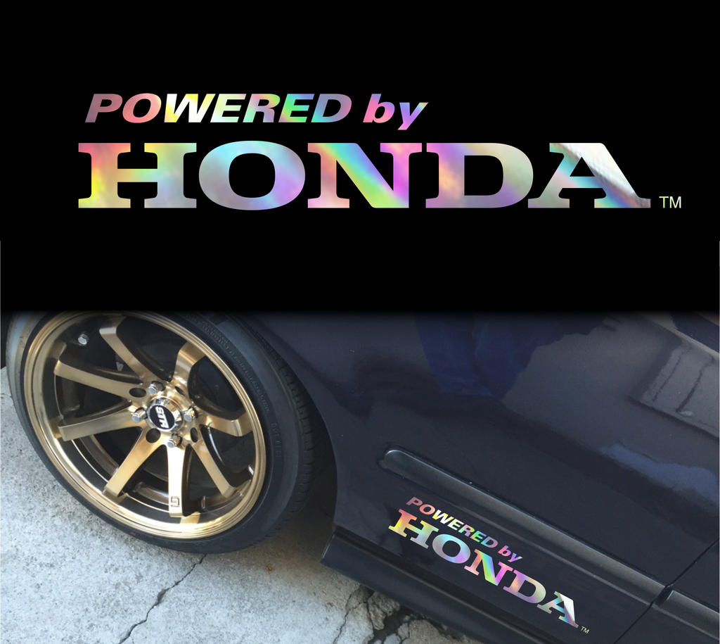 Powered by Honda decal sticker