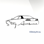 Honda Prelude Stay Awesome Car decal sticker - stickyarteu