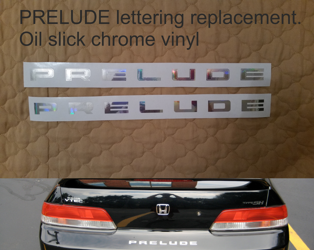 Honda prelude lettering replacement - stickyarteu