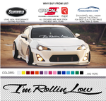 I'm Rolling Low sticker decal - stickyarteu