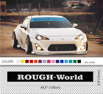 Rough - World diacut Banner
