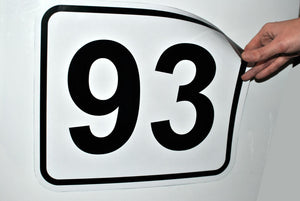 Racing Number  - Magnetic or Sticker (1 psc.)