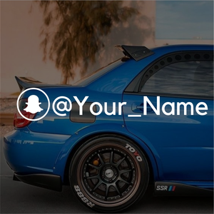 Snapchat custom name decals