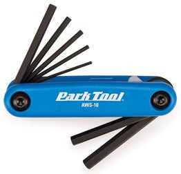 Park Tools AWS10C - Fold-up hex wrench set: 1.5 to 6 mm