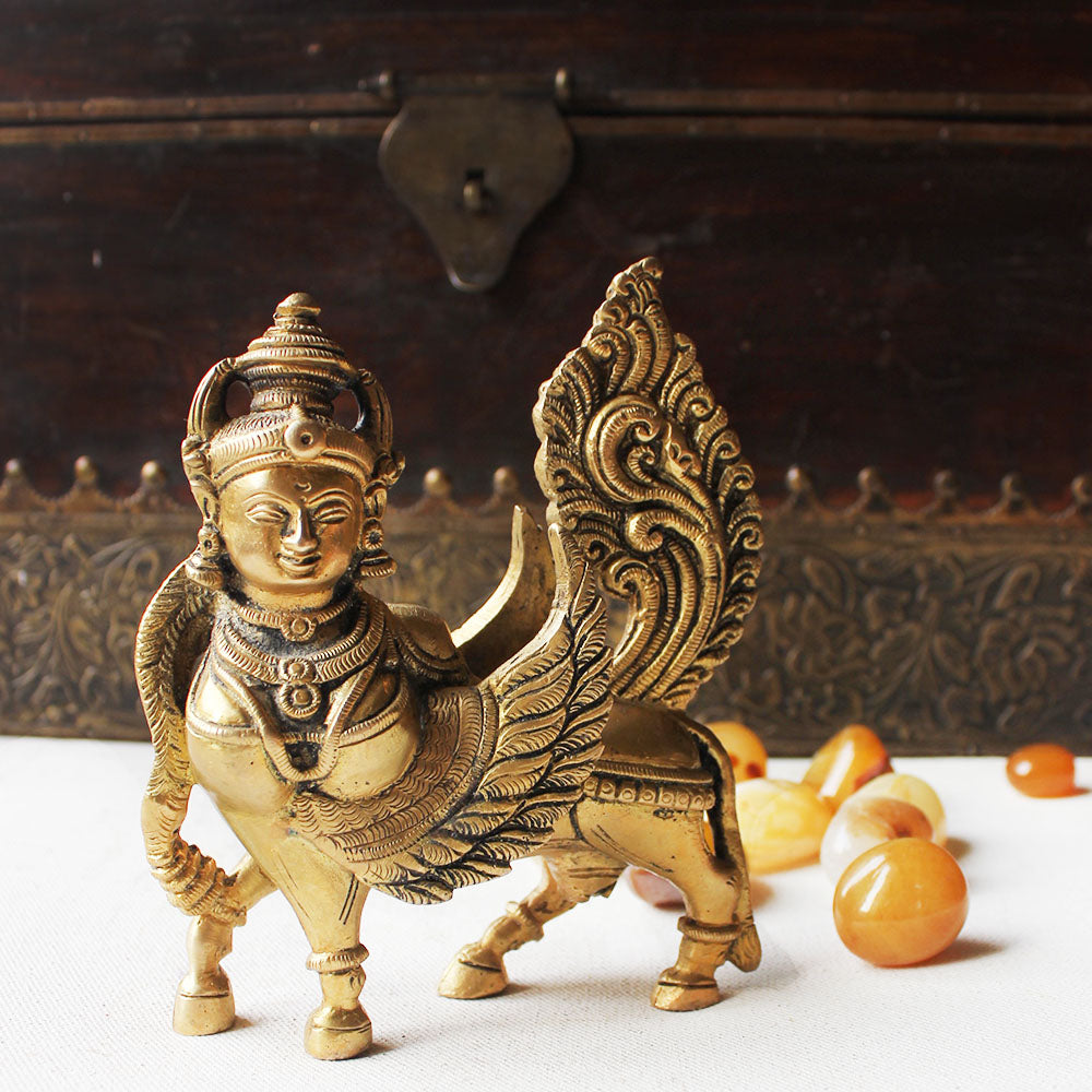 Kamadhenu - The Fragrant One And Mother goddess of The Indian Cow. Size H 14 cm x L 12 cm x W 5 cm