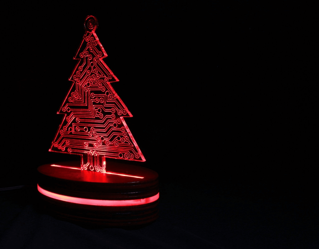 Christmas Tree LED Lamp Circuit Board Style Night Light