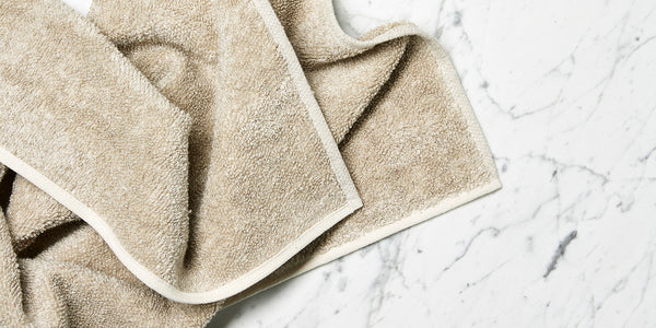 Natural linen bath towels