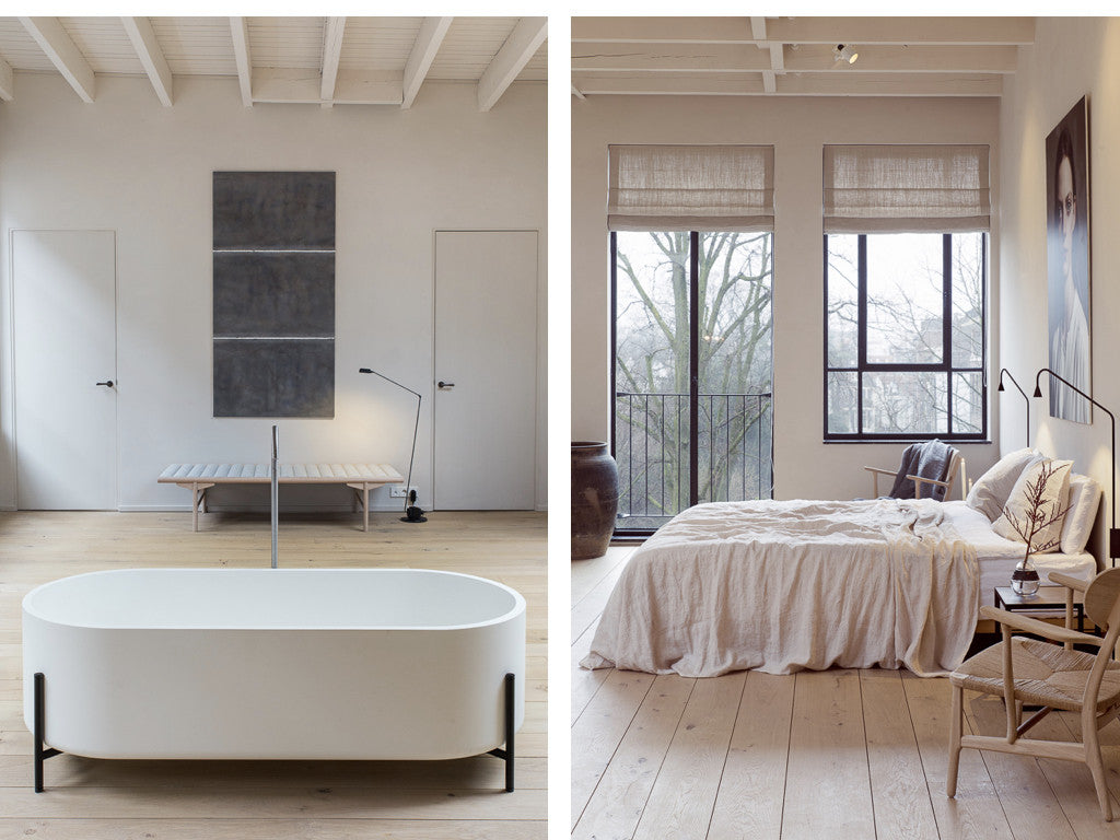 Linen bedding By Mölle the Loft Amsterdam.