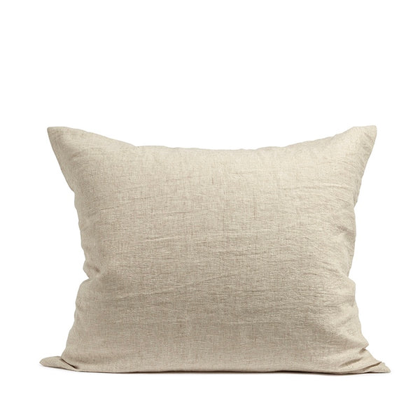 Beige linnen pillow case