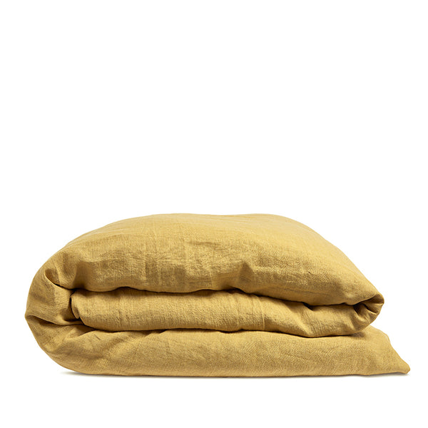 Linen duvet cover honey