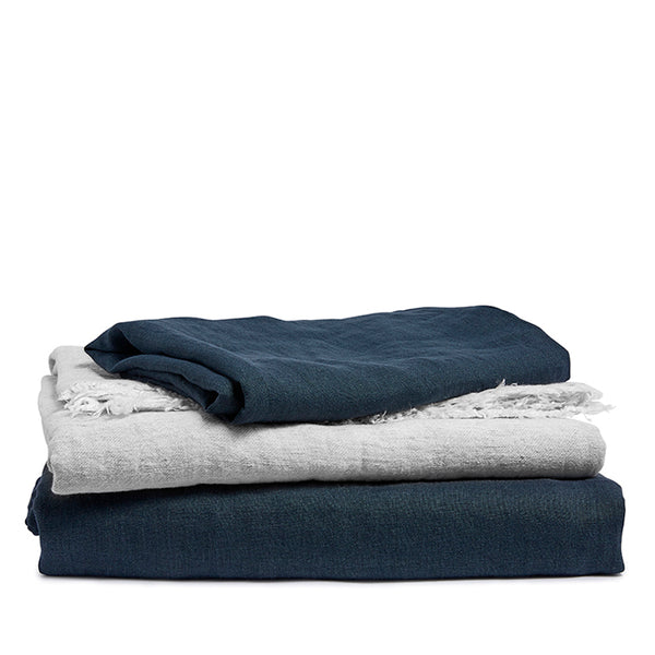 Linen pillow case indigo