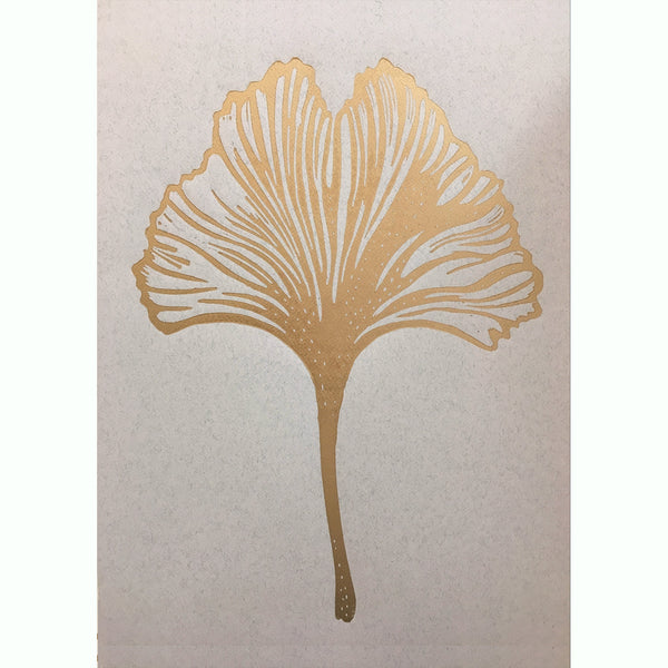 Gingko leaf Lino gold/rose