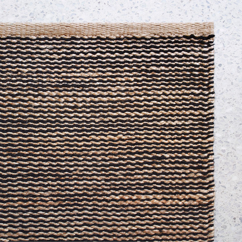 Drift Weave rug natural-black
