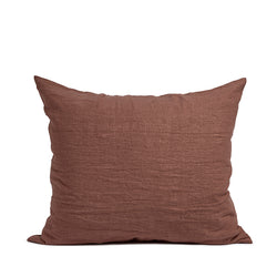 Linen pillow case terra