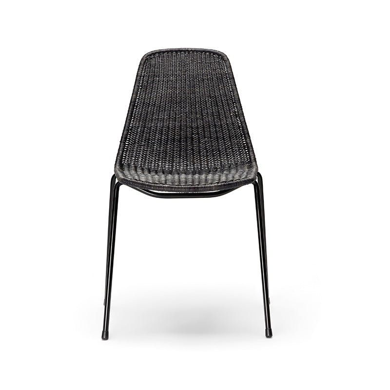 Black Basket chair Gian Franco Legler