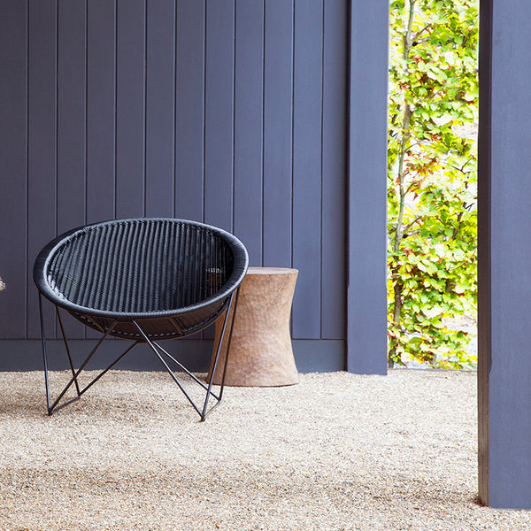 Outdoor lounge chair zwart