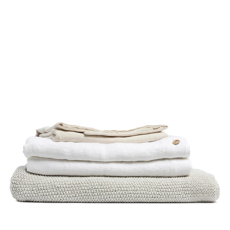 Linen flat sheet pure white
