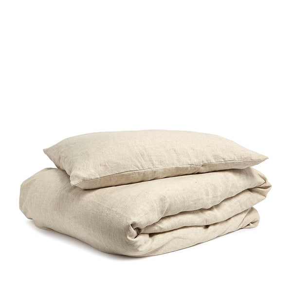 Linen duvet cover wheat