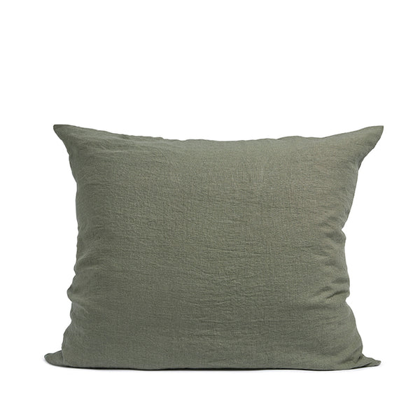 Linen pillow case olive