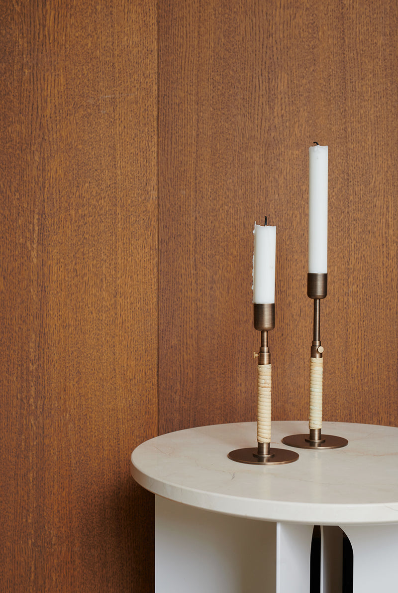 Duca bronze candle holder