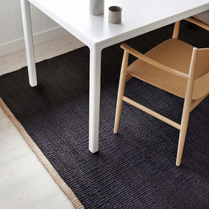 Nest Weave rug charcoal