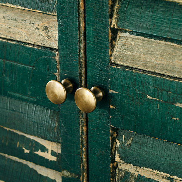 Antique round brass knob