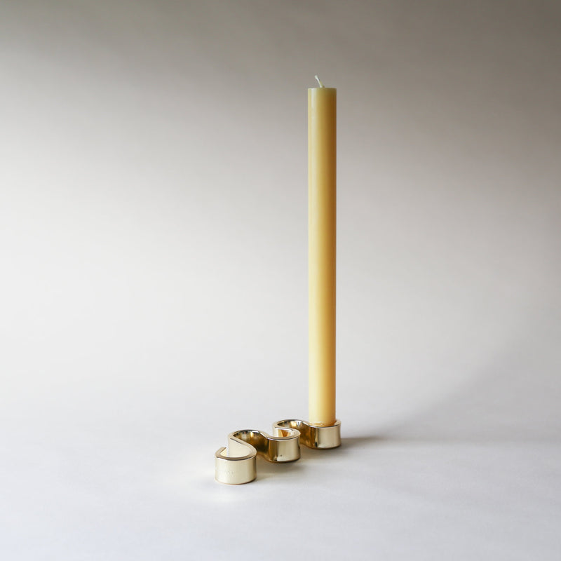 Brass meander candle holder small superfolk