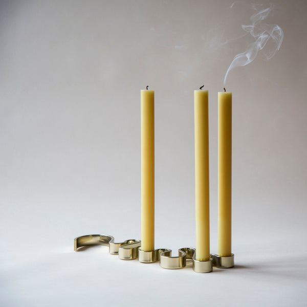 brass meander candle holder Superfolk