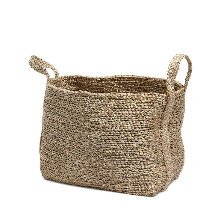 Natural jute basket rectangular