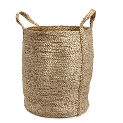 Natural jute basket round