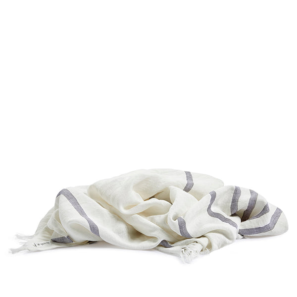 Linen hamam towel grey stripe