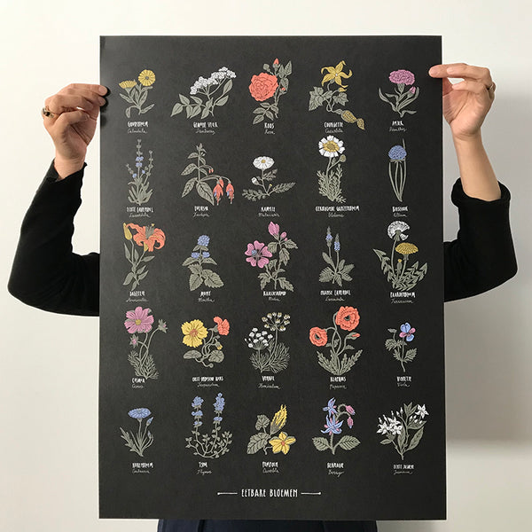 Edible Flowers limited edition print