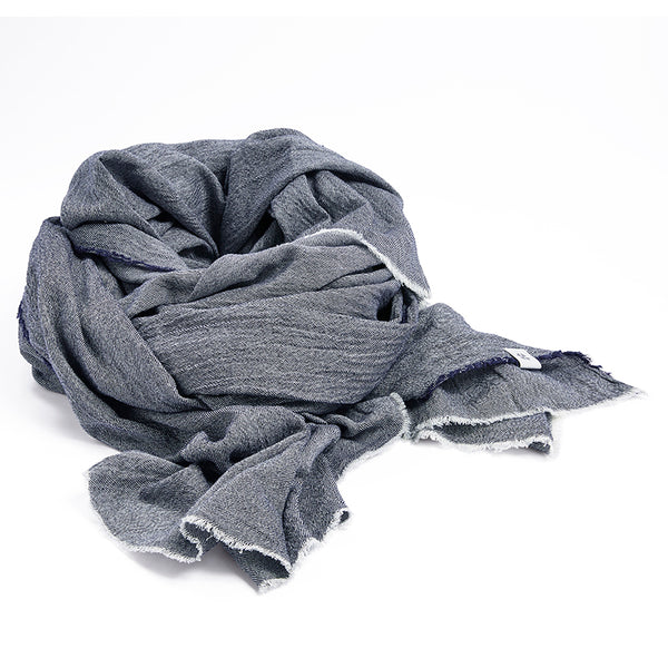 Recycled blue denim scarf