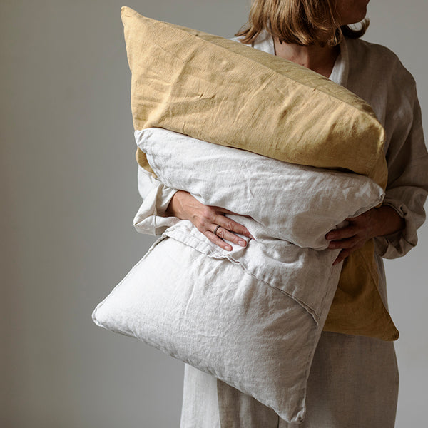 Linen pillow case honey