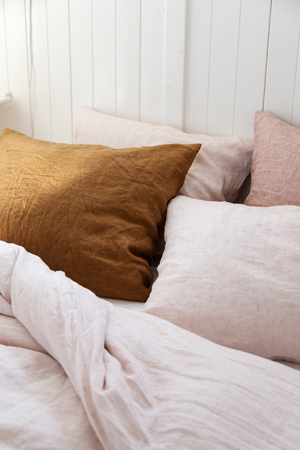 Linen duvet cover blush